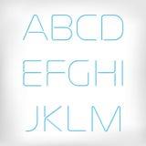 Modern minimal rounded font alphabet set. Royalty Free Stock Photos
