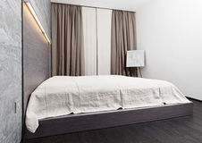 Modern minimalism style bedroom interior Royalty Free Stock Images