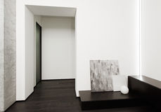 Modern minimalism style hall interior Royalty Free Stock Photos