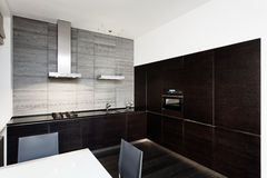 Modern minimalism style kitchen interior Stock Images