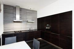 Modern minimalism style kitchen interior stock images