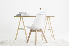 Modern minimalist desk and chair Royalty Free Stock Images