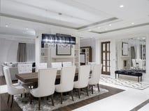 Modern minimalist dining room Royalty Free Stock Image