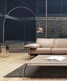 Modern minimalist inredesign Arkivbild