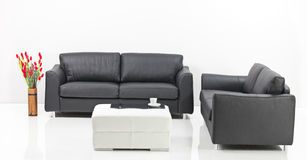 A modern minimalist living-room Royalty Free Stock Photography