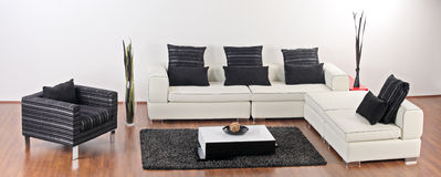Modern minimalist living-room Royalty Free Stock Image