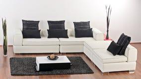 A modern minimalist living-room Stock Photos