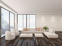 Modern minimalist sitting room interior Stock Photo