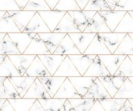 Modern minimalist white marble texture with gold geometric lines pattern. Background for designs banner, card, flyer, invitation,. Party, birthday, wedding royalty free illustration