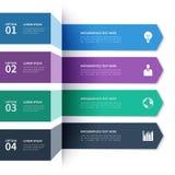 Modern minimalistic infographics banner Royalty Free Stock Image