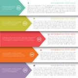 Modern Minimalistic  Infographics Template Royalty Free Stock Image