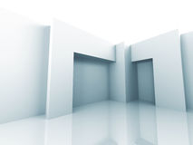 Modern Minimalistic Interior Architecture Design Background Royalty Free Stock Photos