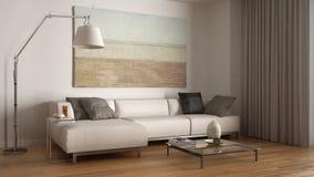 Modern minimalistic living royalty free illustration
