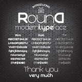 Modern minimalistic sans serif font Round Royalty Free Stock Image