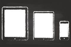 Modern minnestavla och smart telefon Royaltyfri Foto