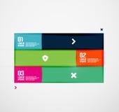 Modern minsta infographics Arkivfoto
