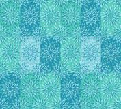 Modern mint blue and green repeating floral pattern. Colorful blue and mint green repeating pattern tile with floral elements in a cool textile design for fabric royalty free illustration