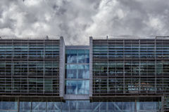 Modern mirrored building in lisbon portugal Stock Photo