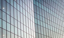 Modern Mirrored Glass Building Facade. Contemporary Architecture.  royalty free stock photo