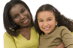 Modern Mixed Race Family Royalty Free Stock Photography