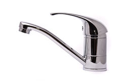 Modern mixer tap Royalty Free Stock Images