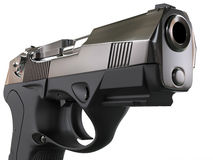 Modern 9mm pistol Royalty Free Stock Images