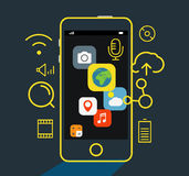 Modern mobile applications concept Stock Images