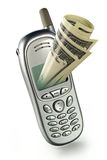 Modern mobile bank. Management the finance on distance by means of a mobile phone Royalty Free Stock Photo