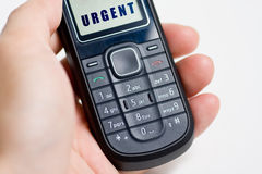 Modern mobile or cell phone. For global communication services with urgent message Royalty Free Stock Images
