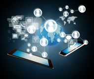 Modern mobile devices Royalty Free Stock Photo