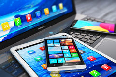Modern mobile devices Royalty Free Stock Image