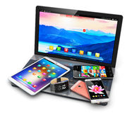 Modern mobile devices Stock Images