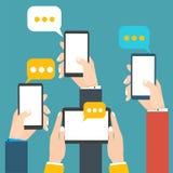 Modern mobile messenger vector illustration stock Stock Photos