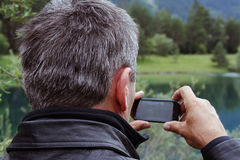 A modern mobile phone Stock Photography