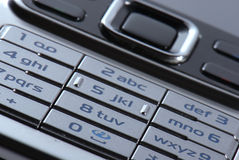 Modern mobile phone in close-up Stock Photo