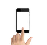 Modern mobile phone in hand Stock Image