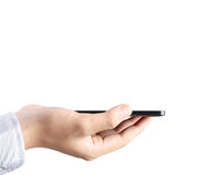 Modern mobile phone in  hand Stock Photography