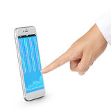 Modern mobile phone in  hand Royalty Free Stock Image
