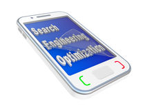 Modern mobile phone with SEO  inscription Stock Images