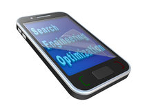 Modern mobile phone with SEO  inscription Royalty Free Stock Image