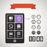 Modern mobile phone Stock Image