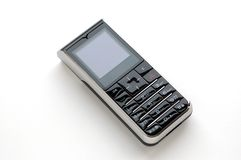 Modern mobile phone with white background Royalty Free Stock Photography