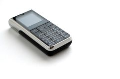 Modern mobile phone with white background Royalty Free Stock Image