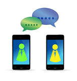 Modern mobile phones communication concept Royalty Free Stock Images