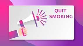 QUIT SMOKING - SPEAKER CONCEPT royalty free stock images