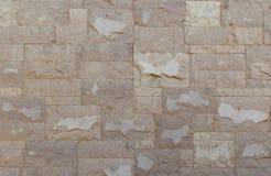 Modern modell av dekorativa yttersidor för stenvägg Arkivbild