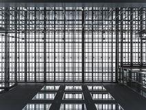 Modern modell för konstruktion för ram för arkitekturdetaljmetall fotografering för bildbyråer