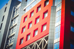 Modern Modernistic Red Building Stock Images
