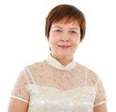 Modern mogen asiatisk kvinna Arkivbilder