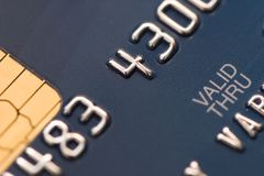 Modern money. Credit card extreme close-up photo Stock Image